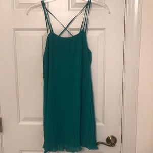 NWT BCBGeneration Teal Pleated Criss-Cross Dress